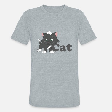 A very funny cat - Unisex Tri-Blend T-Shirt