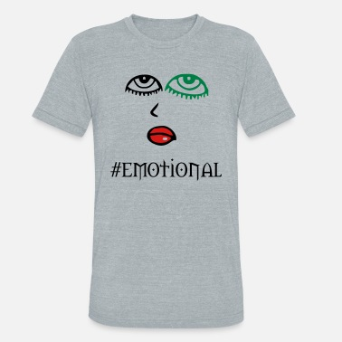 Emotion emotional - Unisex Tri-Blend T-Shirt