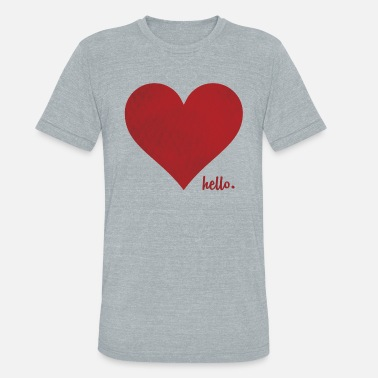 Red Heart Hello Love ( Red Heart ) - Unisex Tri-Blend T-Shirt