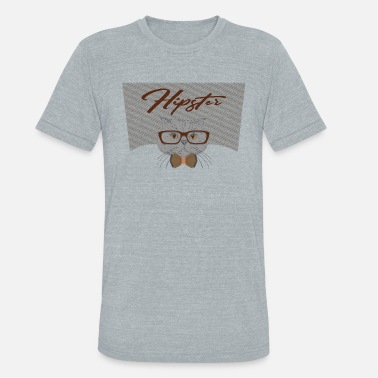 Alternative Hipster Cat Mojo Design Tee - Unisex Tri-Blend T-Shirt