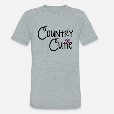 Country Abbreviation Country Cutie - Unisex Tri-Blend T-Shirt