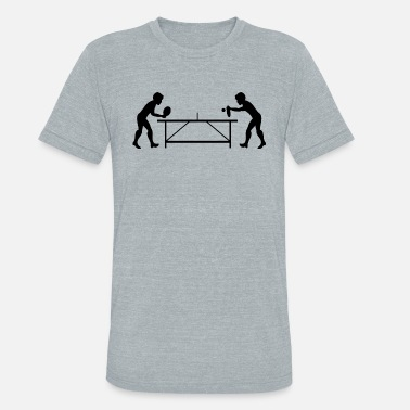 Ping Pong Table Tennis Ping Pong Player Sports - Unisex Tri-Blend T-Shirt