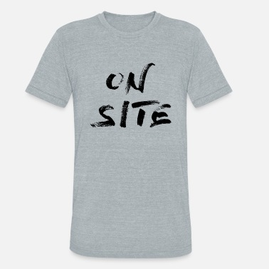Sites ON SITE black - Unisex Tri-Blend T-Shirt