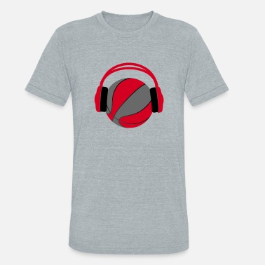 Brooklyn Basketball Basketball Headphone Gift - Unisex Tri-Blend T-Shirt