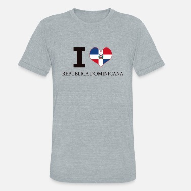 Central America I LOVE DOMINICAN REPUBLIC HEART CENTRAL AMERICA - Unisex Tri-Blend T-Shirt