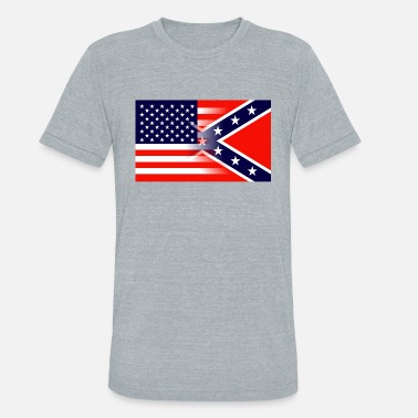 Rebel Flag Heritage Not Hate Collection - Unisex Tri-Blend T-Shirt