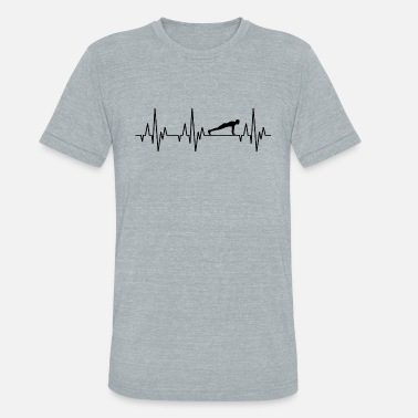 Heartbeat Gym Heartbeat Fitness Bodybuilding Bodybuilder Gym - Unisex Tri-Blend T-Shirt