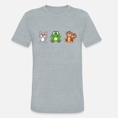 Jungle Monkey Wilderness Mouse Frog Monkey - Unisex Tri-Blend T-Shirt