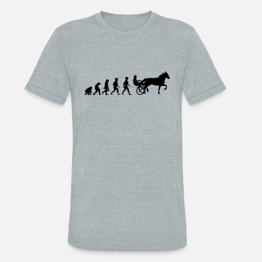 Evolution Evolution Horses Riding Harness Racing Equitation - Unisex Tri-Blend T-Shirt