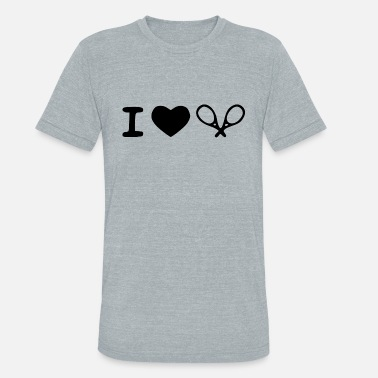 I Love i love tennis - Unisex Tri-Blend T-Shirt