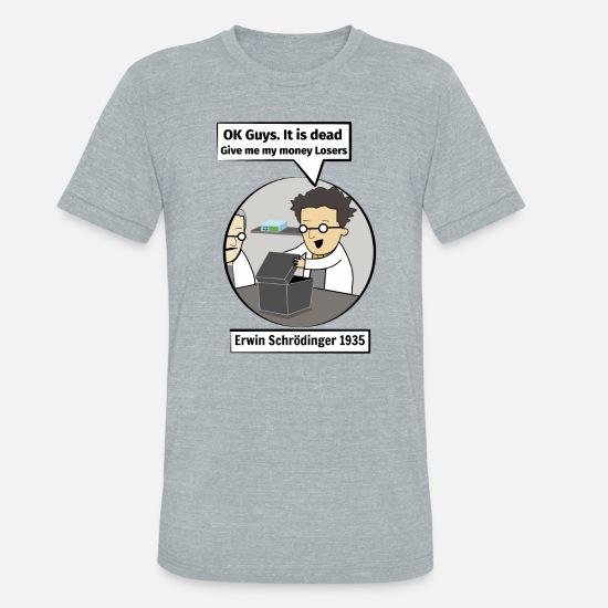 e55523ac2 Unisex Tri-Blend T-ShirtSchrodinger's cat. Funny Science illustration