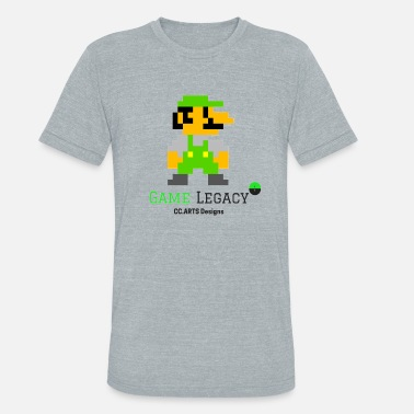 Luigi CC Arts Designs Game Legacy - Unisex Tri-Blend T-Shirt
