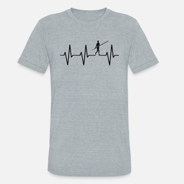Beats My heart beats for pole vault! heartbeat gift - Unisex Tri-Blend T-Shirt