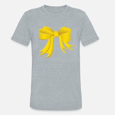bad0b82d Yellow Bow Yellow Bow - Unisex Tri-Blend T-Shirt