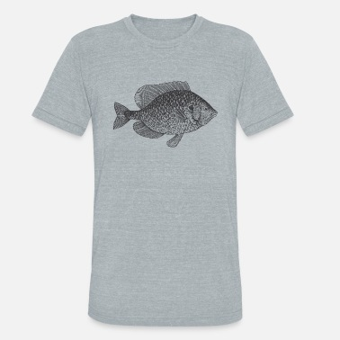 Vintage Fishing Vintage Fish - Unisex Tri-Blend T-Shirt