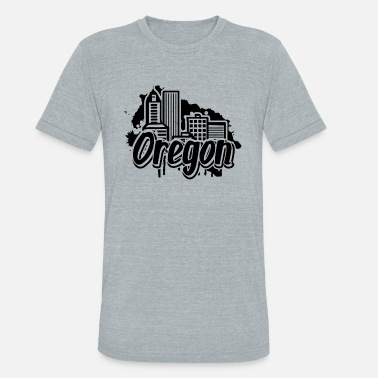Oregon Coast Oregon Home Shirt - Unisex Tri-Blend T-Shirt