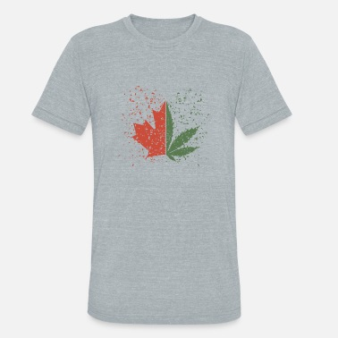 Cannabis & Maple Leaf - Unisex Tri-Blend T-Shirt