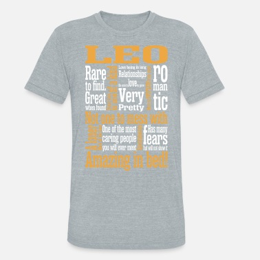 Sun Signs Leo Amazing In Bed - Unisex Tri-Blend T-Shirt