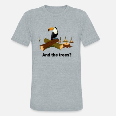 tucan without trees - Unisex Tri-Blend T-Shirt