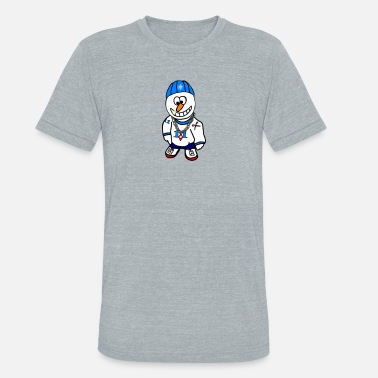 Rapper Hip Hop Rapper Snowman - Unisex Tri-Blend T-Shirt