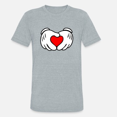 Mickey Heart Hands Mickey heart hands - Unisex Tri-Blend T-Shirt