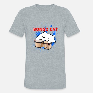 Cereal Bongo Cat - Unisex Tri-Blend T-Shirt