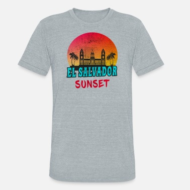 Central America El Salvador Sunset Vintage / Gift Central America - Unisex Tri-Blend T-Shirt