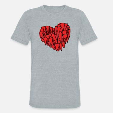 Red Heart red heart - Unisex Tri-Blend T-Shirt