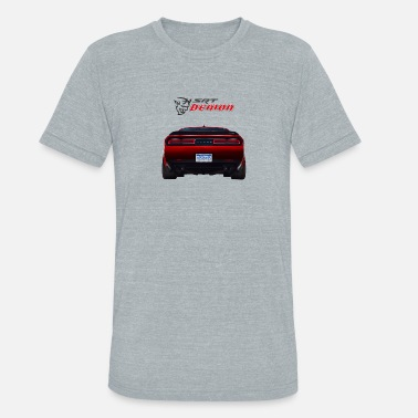 Demon DODGE DEMON CAR - Unisex Tri-Blend T-Shirt