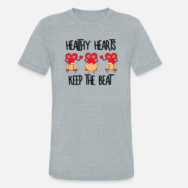 Healthy Heart Healthy Hearts - Unisex Tri-Blend T-Shirt