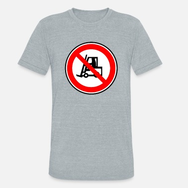 Shipping And Logistics gabelstapler fork lift truck stacker pallet palett - Unisex Tri-Blend T-Shirt