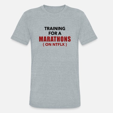 Marathoner Training Training On A Marathon - Unisex Tri-Blend T-Shirt