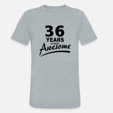 36 Years Of Being Awesome 36 Years of being AWESOME - Unisex Tri-Blend T-Shirt