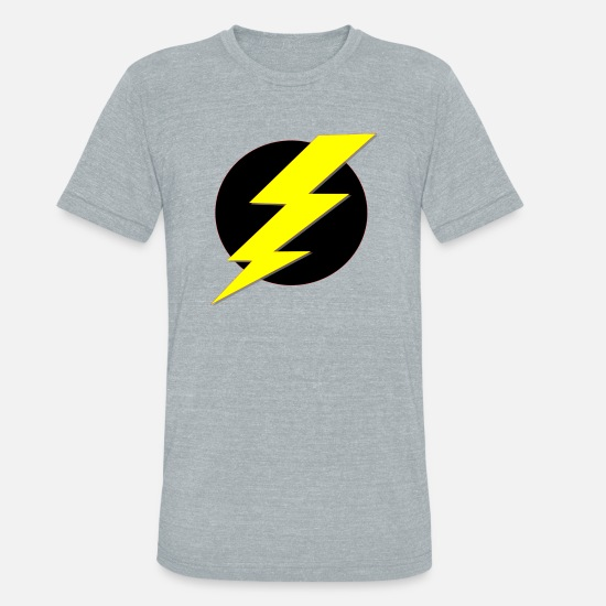 Lightning Bolt T-Shirts - lightning bolt - Unisex Tri-Blend T-Shirt heather gray