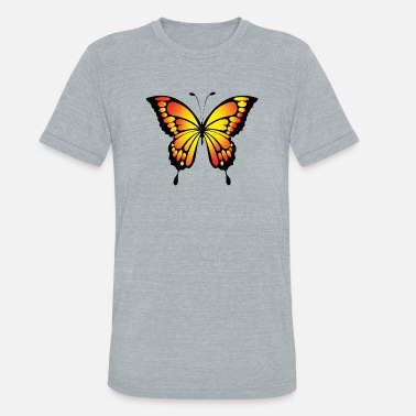 Bright Bright Yellow Butterfly - Unisex Tri-Blend T-Shirt