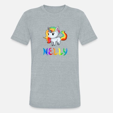 Nellie Nelly Unicorn - Unisex Tri-Blend T-Shirt