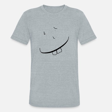 Goofy Face Happy Guy - Unisex Tri-Blend T-Shirt