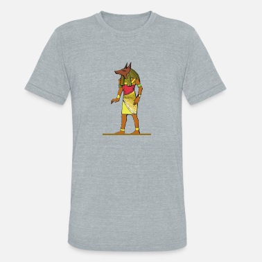 Ancient Egyptian God Ancient Egyptian Painting - Anubis, the Wolf God - Unisex Tri-Blend T-Shirt