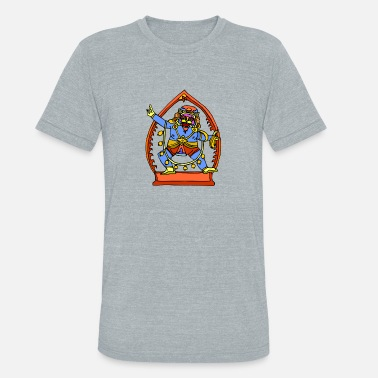 Ancient Egyptian God Ancient Egyptian Painting - Male Deity - Unisex Tri-Blend T-Shirt