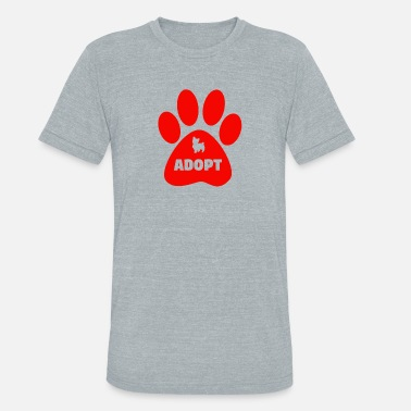 Cat Adoption adopt cats - Unisex Tri-Blend T-Shirt