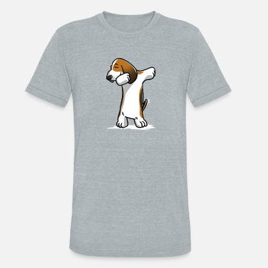 Dances With Wolves Funny Basset Hound Dabbing - Unisex Tri-Blend T-Shirt