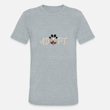 Awesome Dog Rescue Adopt and Rescue Dog Paw - Unisex Tri-Blend T-Shirt