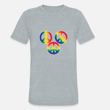 Christopher Street Day Christopher Street Day Peace and Tolerance - Unisex Tri-Blend T-Shirt