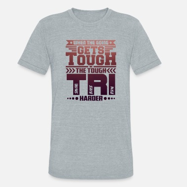 Harder Sportswear Tri Harder - Triathlon - Total Basics - Unisex Tri-Blend T-Shirt