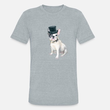 df80f995 Frenchie French Bulldog Top Hat BONE Dogs In - Unisex Tri-Blend T-Shirt