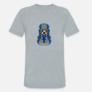 Dog Carrier (Pug Carrier) - Unisex Tri-Blend T-Shirt