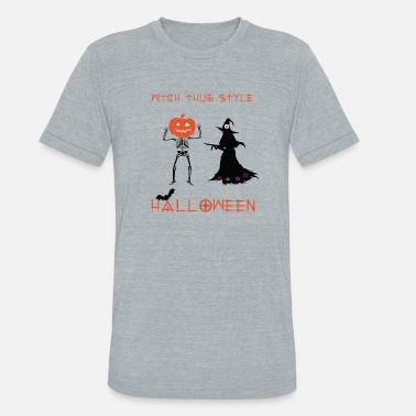 Horor witch thug style horor halloween - Unisex Tri-Blend T-Shirt