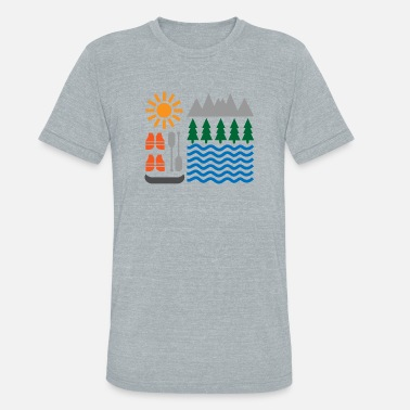 Lake Kayaking Kayak - Unisex Tri-Blend T-Shirt
