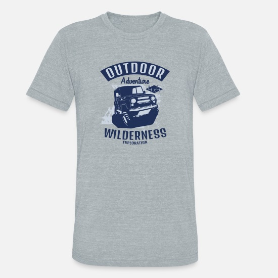 Wheel T-Shirts - wilderness adventure - Unisex Tri-Blend T-Shirt heather gray