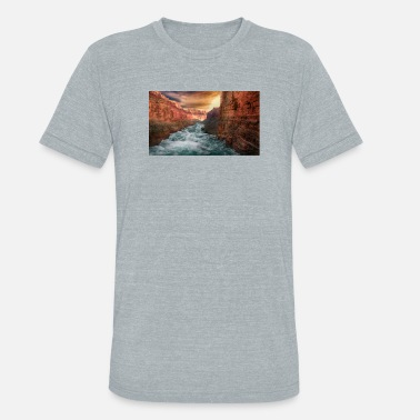 Raider Grand Canyon T-Shirt - National Park Shirt Arizona - Unisex Tri-Blend T-Shirt